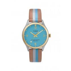 ساعة تايمكس ووتر بيري ٣٤ ملم النسائية سوار جلدي (TW2T26500)