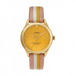 ساعة تايمكس ووتر بيري ٣٤ ملم النسائية سوار جلدي (TW2T26600)