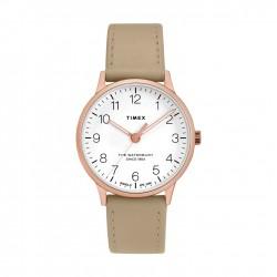 ساعة تايمكس ووتر بيري ٣٦ ملم النسائية سوار جلدي (TW2T27000)