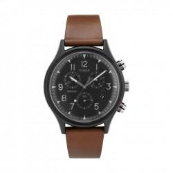 ساعة تايمكس إنديغلو للجنسين بعرض تناظري - ٤٢ ملم مع حزام جلدي (TW2T29600)