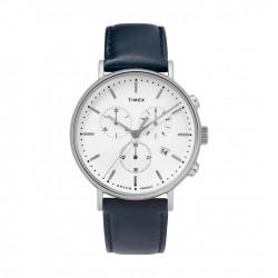 ساعة تايمكس إنديغلو النسائية بعرض تناظري - ٤١ ملم مع حزام جلدي (TW2T32500)