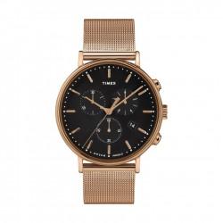 ساعة تايمكس إنديغلو للجنسين بعرض تناظري - ٤١ ملم مع حزام معدني (TW2T37100)