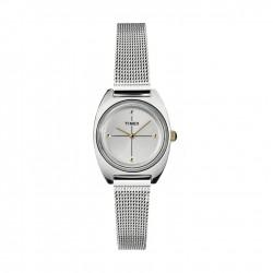 ساعة تايمكس النسائية بعرض تناظري - ٢٤ ملم مع حزام معدني (TW2T37700)