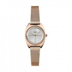 ساعة تايمكس النسائية بعرض تناظري - ٢٤ ملم مع حزام معدني (TW2T37800)