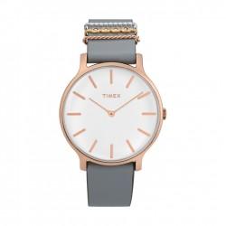 ساعة تايمكس النسائية بعرض تناظري - ٣٨ ملم مع حزام جلدي (TW2T45400)