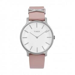 ساعة تايمكس النسائية بعرض تناظري - ٣٨ ملم مع حزام جلدي (TW2T47900)