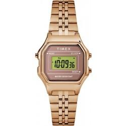 ساعة تايمكس ديجيتال ميني مع حزام معدني للنساء - ٢٧ ملم - وردي - ذهبي (TW2T48300)