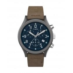 ساعة تايمكس إم كي 1 الرجالية بعرض الكرونوغراف 42 ملم و حزام من الجلد  (TW2T68000)- بني