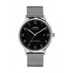 ساعة تايمكس واتربيري للرجال بعرض تناظري وحزام معدني -40 ملم - (TW2T703200)- فضي