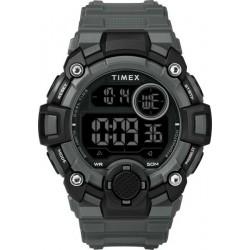 ساعة تايمكس الرياضية الرقمية مع حزام من المطاط للرجال - أسود / رمادي (TW5M27500)