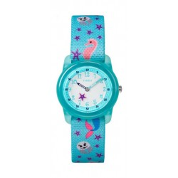 Timex TW7C13700 Youth Quartz Analog Kids Watch – Elastic Fabric Strap – Blue