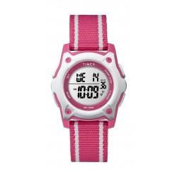 Timex Kid's Digital 35mm Fabric Strap Watch - Pink