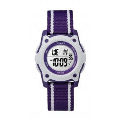Timex Kid's Digital 35mm Fabric Strap Watch - Purple