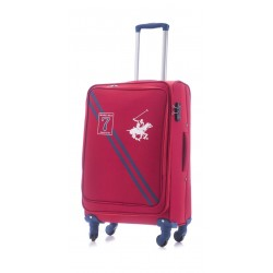 U.S Polo 66CM Medium Softcase Luggage - Seven Red