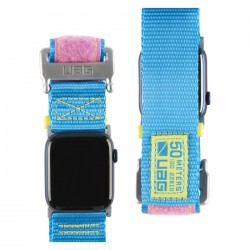 UAG apple watch strap BLUE PINK nylon thick 44mm/42mm buy in xcite Kuwait