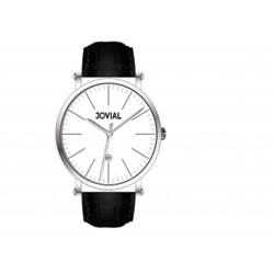 ساعة جوفيال الرجالية - سوار جلدي