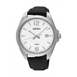 ساعة سيكو للرجال بعرض تناظري - سوار معدني – فضي (UR207P )