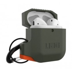 Urban Armor Gear Apple Airpods Silicone Case - Olive Drab/Orange