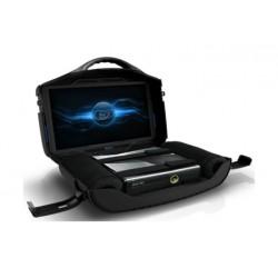 حقيبة اللعب المتحركة الإصدار الأسود مع شاشة إل إي دي من فانجارد - ١٩ بوصة