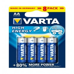 Varta HE 8 AA High Energy Alkaline Battery - 8 Pcs