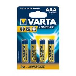 Varta LL 4 AAA Alkaline Battery - 4 Pcs