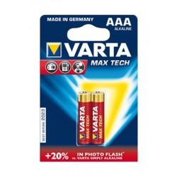 Varta MT 2 AAA Max Tech Alkaline Battery - 2 Pcs