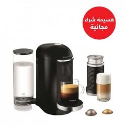 صانعة القهوة فيرتو لاين من نسبريسو مع خفاقة الحليب من أريشينو بلاس – أسود  (VLB-GCB2-GB-BK-NE1 NE) + قسيمة شراء مجانية