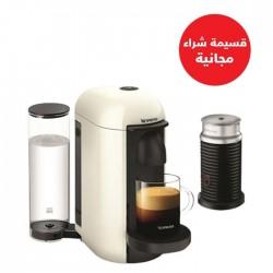 ماكينة القهوة والإسبرسو نيسبرسو فيرتو لاين مع خافق الحليب ايروتشينو بلس (VLB-GCB2-GB-WH-NE1 NE) - أبيض + قسيمة شراء مجانية