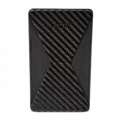 مقبض للهاتف مع محفظة من موفت - كاربون فايبر أسود