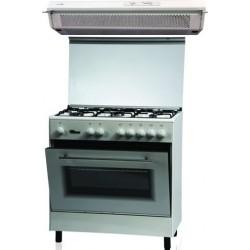 طباخ الغاز القائم من ونسا - ٨٠ × ٥٠ سم - ٥ عيون (WE8050W) + شفاط الطباخ المثبت أسفل الخزانة من لاجرمانيا – ٩٠ سم (K9S9WF/K90TUSW)