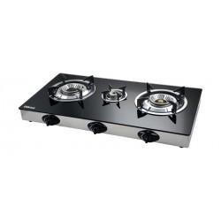 Wansa 3 Burner Gass Stove (3-N5-1608) - Black