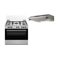 طباخ الغاز وانسا القائم ٥ شعلات بحجم ٦٠×٩٠ سم + شفاط الطباخ المثبت أسفل الخزانة من لاجرمانيا - ٩٠ سم