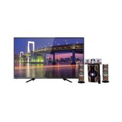 تلفزيون ونسا الذكي ٣٢ بوصة عالي الوضوح إل إي دي - WLE32G7762S + مكبر الصوت اللاسلكي ٣٠٠٠ واط بتقنية البلوتوث من إن إتش إي (NH 01-02) - أسود