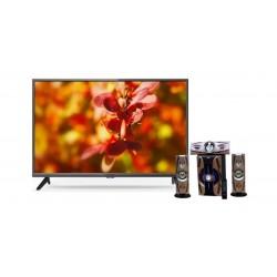 تلفزيون ونسا ٤٠ بوصة كامل الوضوح إل إي دي - WLE40G7762N + مكبر الصوت اللاسلكي ٣٠٠٠ واط بتقنية البلوتوث من إن إتش إي (NH 01-02) - أسود