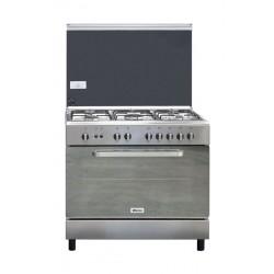 طباخ الغاز القائم من ونسا - ٩٠ x ٦٠ سم - ٥ عيون - ستانليس ستيل (WCI9502214XA)