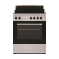 طباخ السيراميك الكهربائي من ونسا ٤ شعلة -٦٠ × ٦٠ سم – ستانليس ستيل (WCT6040041X) + شفاط الروائح لطباخ الغاز ٦٠ سم فولاذ مقاوم للصدأ من ونسا