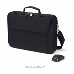 Dicota Top Traveller 15.6-inch Laptop Bag + Wireless Optical Mouse - Black