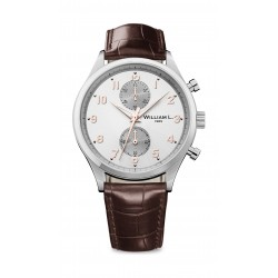 William L Small Chronograph Leather Watch - WLAC02GOCM