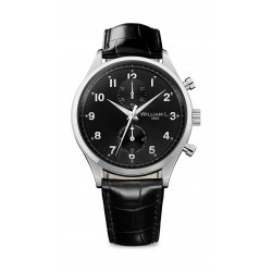 William L Small Chronograph Leather Watch - WLAC02NRCN