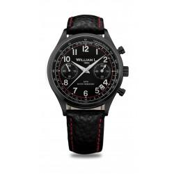 William L Vintage Style Chronograph Leather Watch - WLIB01NRBNSR