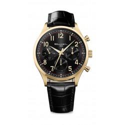 William L Vintage Style Analog Leather Watch - WLOJ03NROJCN