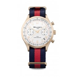 William L Vintage Style Chronograph Watch - WLOR01BCORNBR