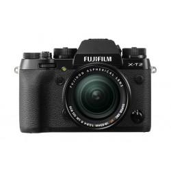 كاميرا فوجي فيلم الرقمية بدون مرآة دقة ٢٤,٣ ميجابكسل مع عدسة إكس إف ١٨ ببعد بؤري  ١٨-٥٥ ملم – أسود (X-T2)