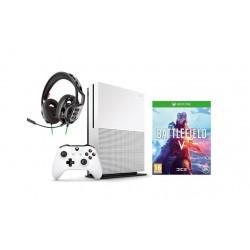 إكس بوكس وان إس ١ تيرا بايت + لعبة باتلفيلد ٥ + سماعة الألعاب بصوت استيريو ريج 300HX لإكس بوكس وان من بلانترونيكس