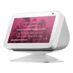 جهاز أمازون إيكو شو الذكي 5 مع اليكسا - أبيض