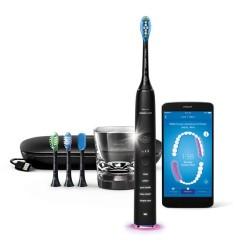 فرشاة الأسنان الكهربائية دايموند كلين بتقنية الأهتزازات الصوتية من فيليبس سونيكير – أسود (HX9924/16)