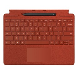 Microsoft Surface Pro X Arabic Keyboard + Pen (25O-00034) - Poppy Red