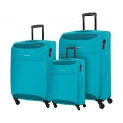 مجموعة حقائب كاميليانت زاكا بأحجام (٥٥ + ٦٩ + ٨٠ سم) - أزرق بحري