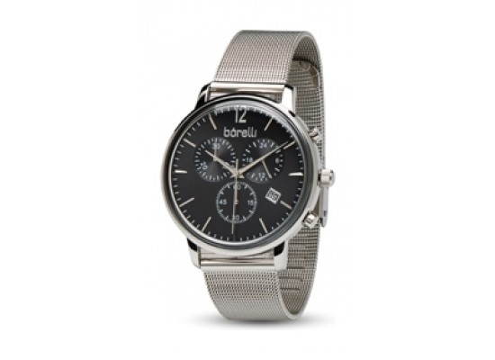 Borelli 42mm Gent's Chronograph Metal Watch (20050064) - Silver