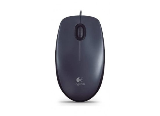 Logitech M100 - USB Wired Mouse - Grey